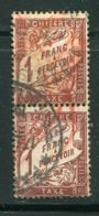 FRANCE- Taxe Y&T N°40- Oblitéré En Paire - 1859-1955 Oblitérés