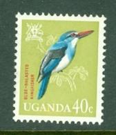 Uganda: 1965   Birds   SG118    40c    MH - Uganda (1962-...)