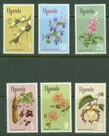 Uganda: 1969/74  Flowers Set    MNH - Uganda (1962-...)