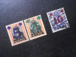D.R.Mi 16/18/17 - 5/25Pf(*)UNG/10Pf - Freie Stadt Danzig  1920 - Mi 3,00 € - Dantzig