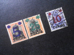 D.R.Mi 16/18/17 - 5/25Pf(*)UNG/10Pf - Freie Stadt Danzig  1920 - Mi 3,00 € - Danzig