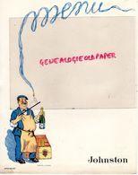 MENU JOHNSTON - ALCOOL -VINS-CHAMPAGNE- MIRANDA - ILLUSTRATEUR JACQUES LE TANNEUR - RARE - Food
