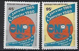 """Congo YT 562 & 563 """" Postes Et Télécom """" 1980 Neuf** - Congo - Brazzaville"""