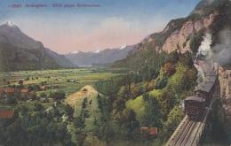 BRÜNIGBAHN Mit Blick Gegen Brienzersee, Karte Um 193? - Eisenbahnen