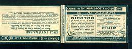 Carnet Semeuse 50c N°199 - Couverture Vide -  Série 260 - Nombreux Thèmes. - Carnets