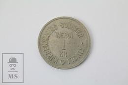 Vintage Tivoli Amusement Park Copenhagen Denmark Token - 1 Verdi - Fichas Y Medallas