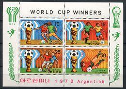 """(CL 111 Ter - Lot 50) Corée Du Nord ** Bloc   -""""Argentina 78"""" Coupe Du Monde De Foot - - Korea, North"""