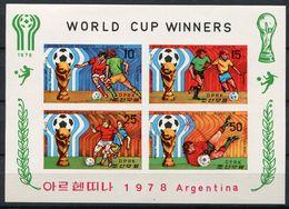 """(CL 111 Ter - Lot 51) Corée Du Nord ** Bloc ND  -""""Argentina 78"""" Coupe Du Monde De Foot - - Korea, North"""