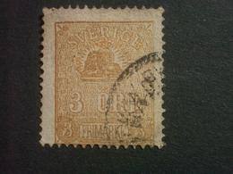 """SUEDE  ( O )  De  1862 / 1866  """"   Valeur En ÖRE  Dentelé 14     """"  N°12          1 Valeur  . - Oblitérés"""