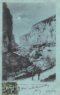 CPA 04 ENVIRONS DE SISTERON LE DEFILE DE PIERRE ECRITE 1909 - Sisteron