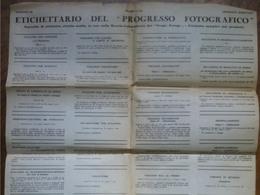 Tecnica Fotografica Vintage - Etichettario Del Progresso Fotografico 1933 - Non Classés