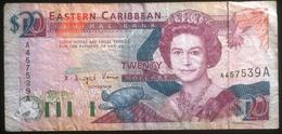 Banconota - Eastern Carribean Central Bank Twenty Dollars - Antigua Montserrat - Billetes