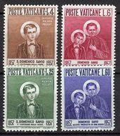 1957 - VATICAN - St. Domenico Savio - Scott #219-222- MNH VF ** - Vatican