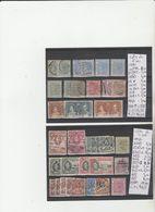 TIMBRE LOT OBLITEREES NEUF /*/(*) DE COTE DE L OR  Nr VOIR SUR PAPIER AVEC TIMBRES COTE 80.90€ - Goldküste (...-1957)