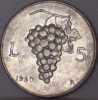 Repubblica Italiana 5 Lire 1950 - 1946-… : Repubblica