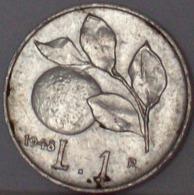 Repubblica Italiana 1 Lira 1948 - 1946-… : Repubblica