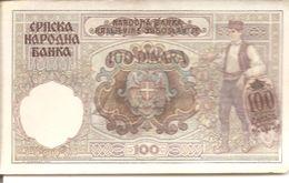 YOUGOSLAVIE - 100 DINARA - Billets