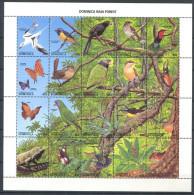 177 DOMINIQUE 1988 - Yvert 1011/30 - Oiseau Arbre - Neuf ** (MNH) Sans Charniere - Dominica (1978-...)