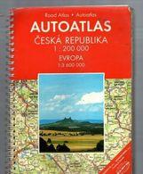 ROAD ATLAS - AUTOATLAS CZECH REPUBLIC + EUROPE - 1: 200 000 , 1:3600 000 Freytag - Berndt  1997 - Landkarten
