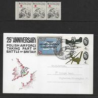 BATTLE  OF  BRITAIN  25th. ANNIVERSARY  OF POLISH  AIRFORCE  TAKING  PART. - 1952-.... (Elizabeth II)