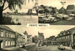 CRIVITZ (MECKL.),Markt, Goethe-, Thälmann Strasse, Auto, Trabant, Wartburg, - Allemagne