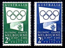 AUSTRALIE. N°215-6 De 1954-5. J.O. De Melbourne. - Sommer 1956: Melbourne