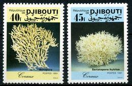 Djibouti 1991 Marine Life Corals Korallen 2v MNH** - Vita Acquatica