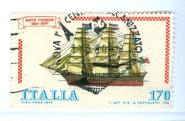 ITALIA, ITALY, COMMEMORATIVO, COSTRUZIONI NAVALI, 1979, FRANCOBOLLO USATO      Sass. 1476   Scott 1384 - 6. 1946-.. Repubblica