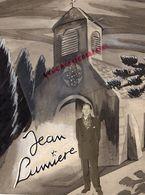 VERITABLE AQUARELLE AVEC COLLAGE PHOTO ORIGINALE JEAN LUMIERE-LA PETITE EGLISE- - Watercolours
