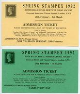 LONDON : SPRING STAMPEX TICKETS, 1992 - Tickets - Vouchers