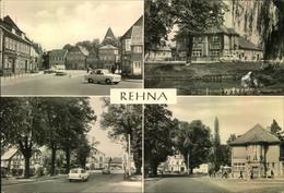 """REHNA; (Kr. Gadebusch), Markt, Gaststätte """"Lindenhof"""", Schweriner Str., Freiheitsplatz, Auto,ungebraucht - Allemagne"""