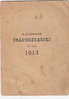 POLAND. THE CALENDAR. 1913 - Calendars