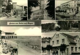 """SELLIN Auf RÜGEN, Hotel """"Frieden"""", Eisenbahn, Brücke, Strandkorb, Gelaufen - Allemagne"""