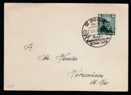 DR Postkarte Sonderstempel 1936 St Ingbert Nach Hirzenhain K624 - Poststempel - Freistempel