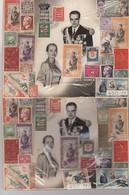 MONACO - LOT DE TIMBRES SUR   CP RAINIER III - GRACE KELLY  24.3.1956 / TBS - Monaco