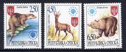 BOSNIAN SERB REPUBLIC 1997 Native Mammals MNH / **.  Michel 66-68 - Bosnia And Herzegovina