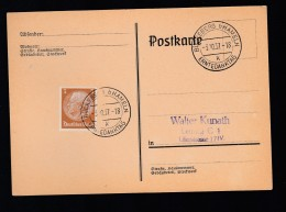 DR Postkarte Sonderstempel 1937 Bückeberg Hameln K1600 - Poststempel - Freistempel