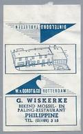 Suikerwikkel - PHILIPPINE. Mossel En Paling Restaurant. G. WISKERKE. - Oordt Rotterdam - Dinteloord Tabletten - Sugars