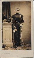 Photo Soldat écrite Derriere A Mon Bon Toussaint 01  Mars 62 ? 1862? H.George- Guillon Photo Strasbourg - Guerre, Militaire
