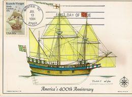 UNITED STATES  1984 MAXIMUM CARDS SHIPS - Maximumkarten (MC)