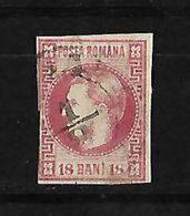 Rumania 1868-70 Principe Carlos Sin Barba Sin Dentar - 1858-1880 Moldavia & Principado