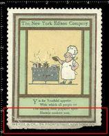 American Poster Stamp, Reklamemarke, Cinderella, The New York Edison Company, Thomas Edison, Chef, Koch. - Persönlichkeiten