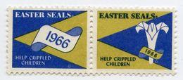 CINDERELLA : CANADA : EASTER SEALS, 1966 - HELP CRIPPLED CHILDREN - Cinderellas