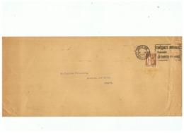LETTRE DEPART PARIS VIII POUR AVESNES SUR HELPE (NORD) TIMBRE TYPE PAIX N° 282 - Marcophilie (Lettres)