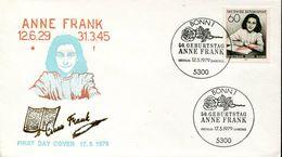 30546 Germany, Fdc 1979 Anne Frank - Berühmt Frauen