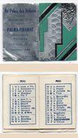 Petit Livret Calendrier Argenté De 1935 - Pub Au Palis Des Délices - Salon De Thé - Palma-Pibarot - TOULON  (102394) - Kalenders