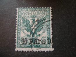 LEVANTE - ALBANIA - 1902, Sass. N. 4, 10 P. Su 5 Cent. Verde Usato - Albania