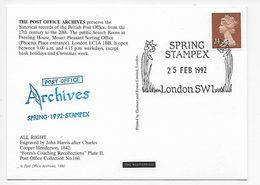 Stampex Spring 1992 - Post Office Archives - All Right - 1952-.... (Elizabeth II)