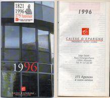 Agenda - Calendrier De La Caisse D' Epargne 1996  (102395) - Calendriers