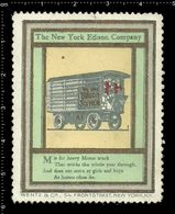 American Poster Stamp, Reklamemarke, Cinderella, The New York Edison Company, Thomas Edison, Wagon, Wagen. - Celebrità